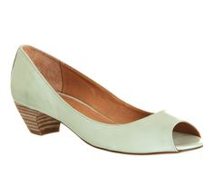 Office Far Away Mint Leather - Mid Heels