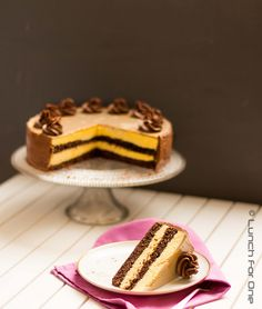 Mango Schokoladen Espresso Torte (mango chocolate espresso cake or gateau) by Lunchforone