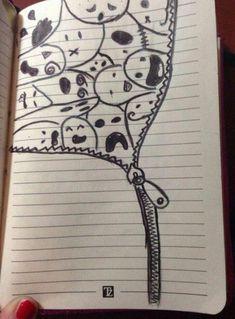 Tips Drawing - Site Toda .-Tipps Zeichnen – Site Today Tips the draw Draw – Site Today - Cool Art Drawings, Pencil Art Drawings, Art Drawings Sketches, Kawaii Drawings, Doodle Drawings, Cartoon Drawings, Easy Drawings, Doodle Art, Cute Drawings Tumblr