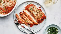 BA's Best Chicken Parm // We deconstructed every aspect of this iconic dish to bring you our ideal version. No more sad, soggy, mediocre outcomes allowed! Parsley Recipes, Chicken Parmesan Recipes, Small Baking Dish, Bowl Cake, Vegetable Puree, Chicken Cutlets, Chicken Breasts, Chicken Seasoning, Chicken Pasta
