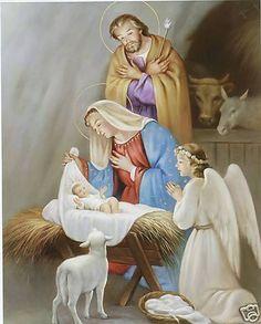 Catholic Christmas Nativity Scene