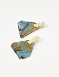 Aquamarine Slice Earrings | Kathleen Whitaker