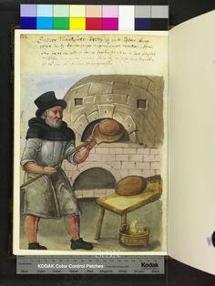 bakers, ovens and bread from the Die Mendelschen und Landauerschen Hausbücher dated 1425- 1629