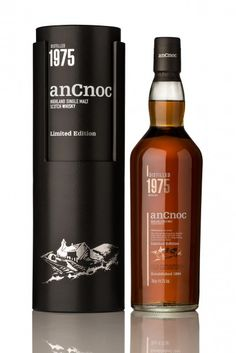 The new anCnoc 1975 Vintage is here On February 2015 anCnoc Highland Single Malt Scotch Whisky will unveil its latest creation – anCnoc 1975 Vintage. Bottled late in 2014 this is the oldest exp. Good Whiskey, Scotch Whiskey, Wine And Liquor, Liquor Bottles, Tequila, Highland Whisky, Whiskey Brands, Single Malt Whisky, Whiskey Bottle