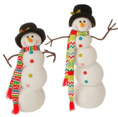 RAZ Posable Snowman Set of 2 Two assorted posable snowmen (bodies can be shaped) Set includes one of each Made of Polyester Measures X X X X Artist: Betsey Cavallo RAZ Exclusive RAZ 2015 Merry & Bright Collection Halloween Decorations, Christmas Decorations, Christmas Ornaments, Holiday Decor, Christmas Sewing Projects, Christmas Clearance, Very Merry Christmas, Merry And Bright, Fall Decor
