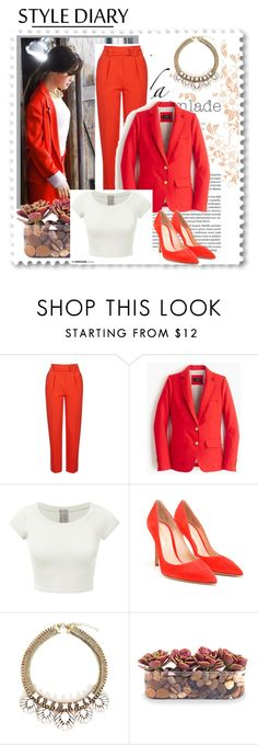 """""""Im Woman Too"""" by mandalinaqitrydewi on Polyvore featuring Topshop, J.Crew, Gianvito Rossi and John-Richard"""