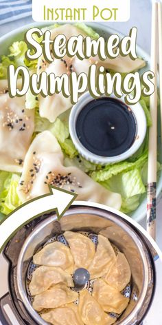 If you love Asian food, you must be a fan of their amazing steamed dumplings! Their flavorful filling and their sticky texture are really mouthwatering and taste even better together with soy sauce.     Luckily, this pressure cooker steamed dumplings recipe can be easily prepared with the help of your Instant Pot and it makes an excellent appetizer for any Chinese-style dinner at home. Even more, they are perfect for vegan friends, since they are meatless!