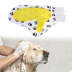 Silicone Pet Brush Glove Deshedding Gentle Efficient Massage Comb Pet Grooming Dogs Bath Cleaning Supplies Pet Dog Acessorios