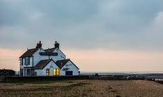 The Old Neptune, Whitstable, KentWhitstable, UK - November 19, 2014: The Old Neptune at dusk. The building was rebuilt in 1897 when its predecessor was completely washed away in a winter storm.