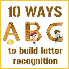 10 multi-sensory ways to build letter recognition. Letter of the week. Education And Literacy, Preschool Literacy, Preschool Letters, Literacy Activities, Kids Education, In Kindergarten, Early Literacy, English Activities, Preschool Books