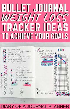 Achieve all your fitness goals with this genius bullet journal weight loss tracker idea! #weightloss #healthyliving #fitnesstracker #Bulletjournaltrackers #weightlosstracker Bullet Journal Layout Templates, Bullet Journal Contents, Bullet Journal Mood, Bullet Journal Printables, Bullet Journal How To Start A, Bullet Journal Inspiration, Bullet Journals, Bullet Journal Weight Loss Tracker, Weight Loss Journal