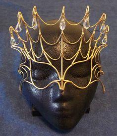Bronze & Crystal Spider Mask. $79.00, via Etsy.
