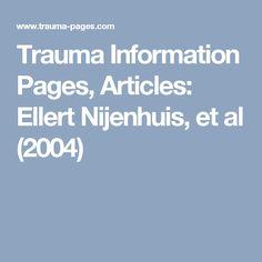 Trauma Information Pages, Articles: Ellert Nijenhuis, et al (2004)