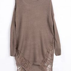 Cupshe Highest Peek High Low Sweater Dress