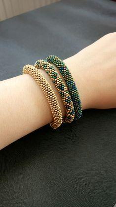 Bead Crochet Kit to Make Necklace, Diy Jewelry Kit, Statement Necklace Red, Adult Craft Kit Diy Jewelry Kit, Rope Jewelry, Seed Bead Jewelry, Fabric Jewelry, Jewelry Making Beads, Beaded Jewelry, Seed Bead Bracelets Tutorials, Beaded Bracelets Tutorial, Beaded Bracelet Patterns