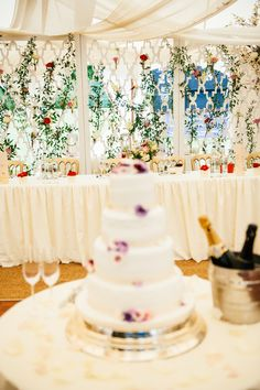 A sneak peek of the inside of a wedding in our Oyster Pearl tent