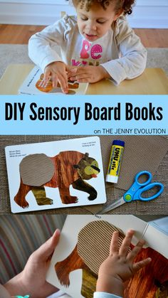 DIY Sensory Board Book - An awesome tactile sensory book crafts for toddlers and preschool. Craft Activities For Kids, Sensory Activities, Sensory Play, Toddler Activities, Learning Activities, Sensory Diet, Baby Sensory, Preschool Learning, Preschool Ideas