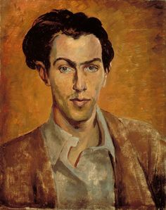 Robert Colquhoun (Scottish, 1914-1962), Self-portrait. 1940. Oil on canvas.