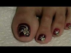 flower toe nail designs - Google Search
