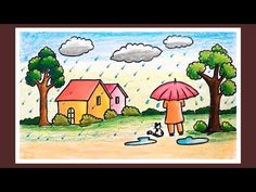 scenery for kids drawing * scenery for kids ` scenery for kids drawing ` scenery for kids easy ` scenery for kids beautiful ` scenery for kids children Drawing Pictures For Kids, Scenery Drawing For Kids, Drawing Videos For Kids, Drawing Lessons For Kids, Easy Drawings For Kids, Drawing For Beginners, Painting For Kids, Pictures To Draw, Art For Kids