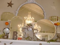 Actually did this recently with 4 large gilded mirror, wonderful result