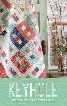 Unlock a simply gorgeous Keyhole Quilt in this free quilting tutorial with Jenny Doan! Learn how to sew this quilt that will be a wonderful gift or an added element of style to any home decor. Missouri Quilt Tutorials, Quilting Tutorials, Quilting Projects, Quilting Designs, Quilting Ideas, Msqc Tutorials, Sewing Projects, Jellyroll Quilts, Scrappy Quilts