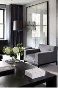 ... masculine interior dark grey curtains grey interior design black