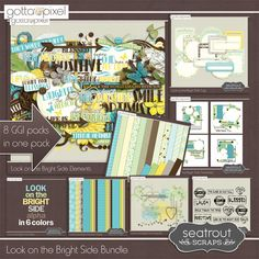 Today sees the launch of the Gotta Grab It promotion at GottaPixel. Look on the Bright Side is this months contribution from Seatrout Scraps with 8 packs at just $1 per pack.  Only available at this great price for 1 week. Blog Post; http://www.seatroutscraps.com/new-ggi-release-look-on-the-bright-side/. 08/09/2014