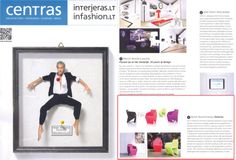 GEMMA armchair #design by Karim Rashid 2013 in Spring 2014 issue of Lithuanian #Architecture magazine CENTRAS