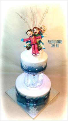 Frozen cake: do you wanna play???♡ - Cake by Azzurra Cuomo Cake Art