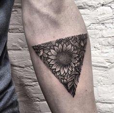 2017 trend Geometric Tattoo - sunflower tattoos...