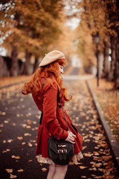 autumn path-7 Pretty Outfits, Beautiful Outfits, Fall Outfits, Vintage Outfits, Vintage Fashion, Perspective Photography, Photoshoot Themes, Autumn Aesthetic, Ginger Girls