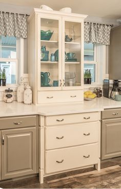 Furniture-style, built-in China cabinet - fun #cottage accent piece