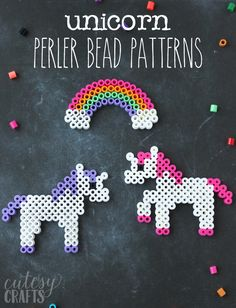 Unicorn Craft - Perler Bead Patterns