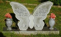 Noticings - Butterfly Headstone by MountainEagleCrafter - Catching up, via Flickr  http://www.flickr.com/photos/mountaineaglecrafter/4690924510/#