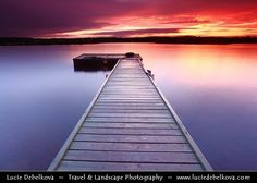 "Finland - Lapland - Midnight Sun at Inari Lake - ""Sunrise at 1am""  www.luciedebelkov..."