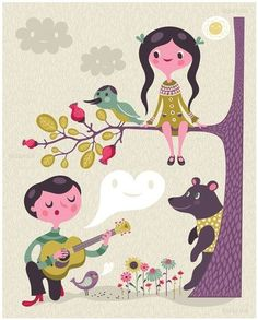 Sing to Me by Helen Dardik.  A4 Limited Edition Print.