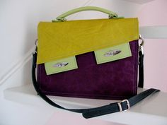 Leather bag by Brigitte Aalten