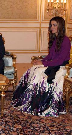 Queen Rania in Elie Saab