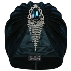 The Future Heirlooms Boutique Cressida Velvet Turban ($53) ❤ liked on Polyvore featuring accessories, hats, blue, blue hat, velvet hat, blue turban, velvet turban and turban hat