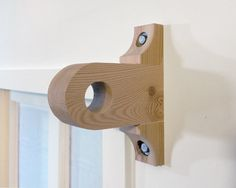 Curtain Drapery Rod Support Bracket SA01 Handmade From Reclaimed Wood