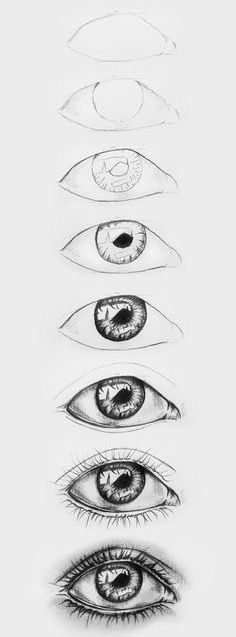 Augen Zeichnung | Drawing Step, Drawing Guide, Drawing Lessons, Drawing Ideas, Eye Drawing Tutorials, Art Lessons, Learn Drawing, Body Drawing, Drawing Art