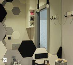 Hexagonalna łazienka 4m2