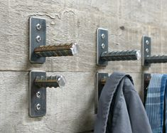 Wall Hooks - Coat Hooks - Rustic Coat Hooks - Industrial Wall Hooks - Metal Coat Hooks - Bag Hook - Towel Hook - Metal Hook -MADE IN AMERICA- Priced as: - Single Wall Hook - Set of Wall Hooks - Set of Wall Hooks Wholesale pricing available for larger Industrial Wall Hooks, Industrial Metal Table Legs, Vintage Industrial Furniture, Industrial Lamps, Welding Art Projects, Metal Art Projects, Welding Tools, Diy Projects, Welded Furniture
