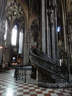 Visit St. Stephen's Cathedral in the city center of Vienna and enjoy the wonderful interior of the cathedral. #feelaustria