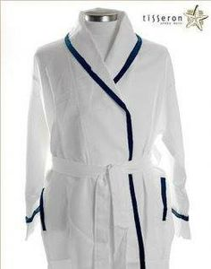 1276473ffa Check this fashionable and stylish Men s White Lightest Weight  Robe with  Blue Braid Trim. Sleepwear WomenPajamas ...