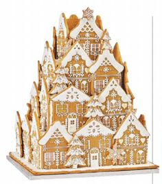 Pernicky Gingerbread House Designs, Christmas Gingerbread House, Noel Christmas, Christmas Goodies, Christmas Desserts, Christmas Treats, Gingerbread Cookies, Gingerbread Castle, Xmas