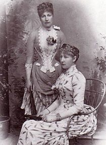 Caroline Lacroix (left) mistress to Leopold II of Belgium