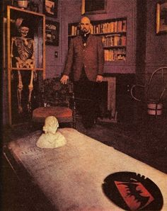 LaVey in his living room.
