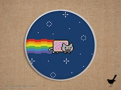 Cross stitch pattern: Nyan Cat